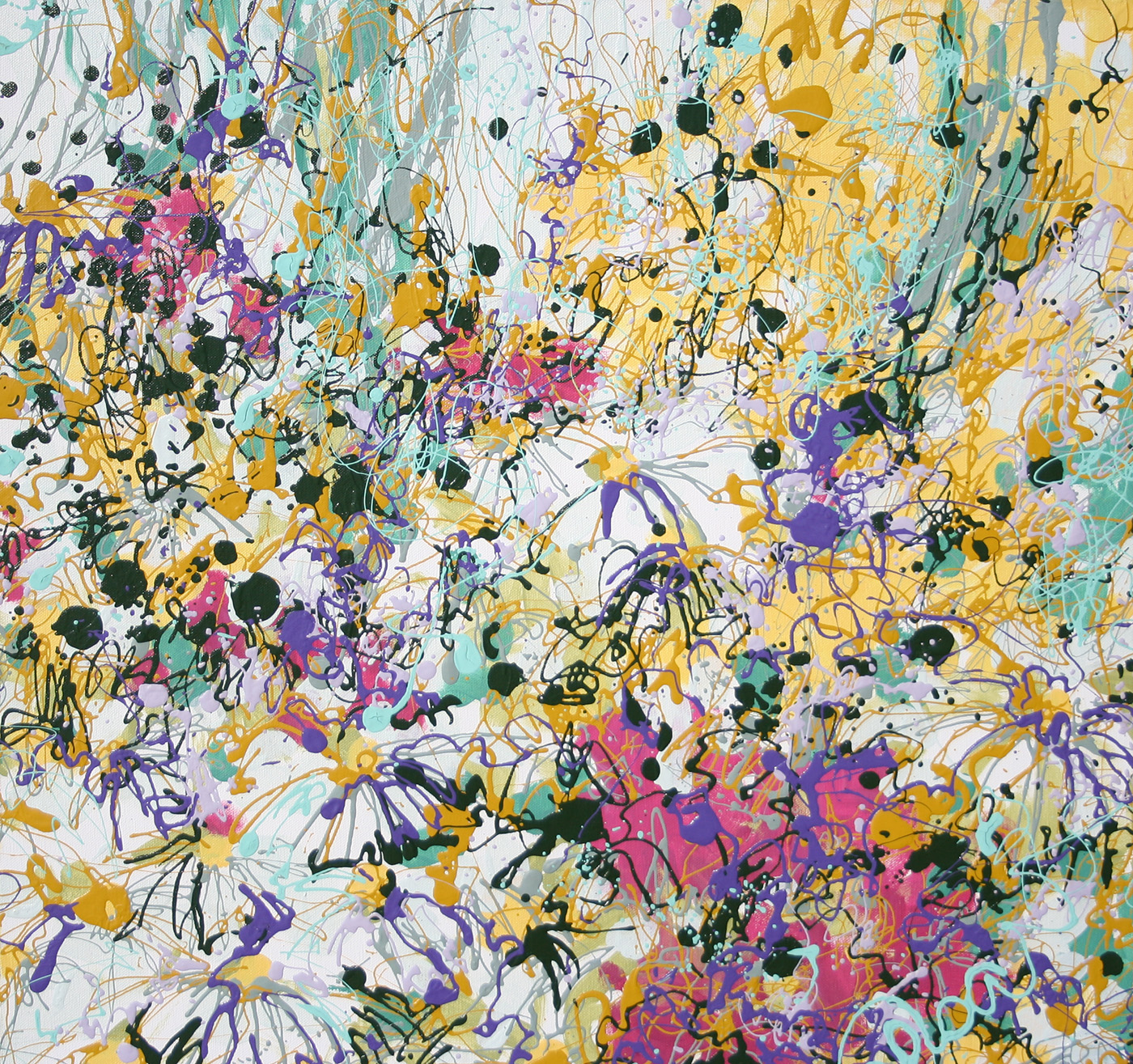 Latex Enamel Flower Painting on Gallery Wrapped Canvas by Fort Collins, Colorado Artist  Lisa Cameron Russell