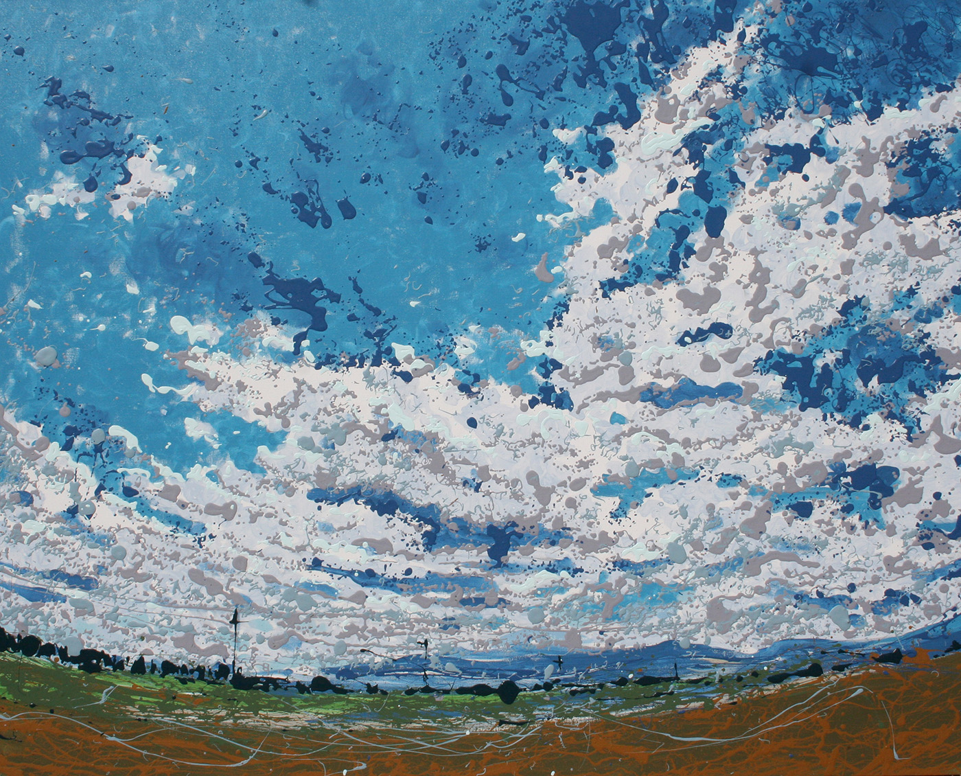 Cloud Latex Enamel Painting on Gallery Wrapped Canvas by Fort Collins, Colorado Artist Lisa Cameron Russell
