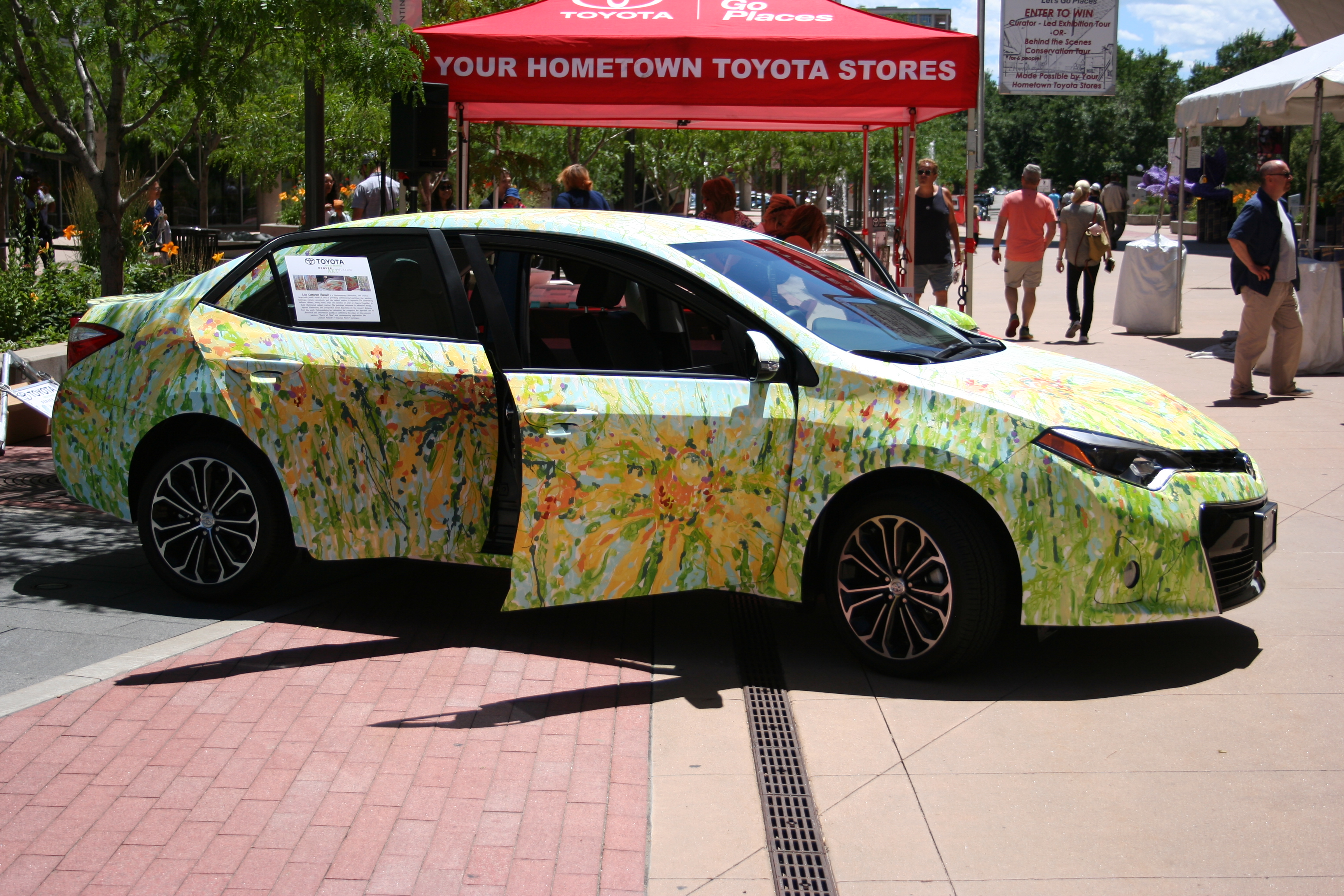 Live painting demonstration for the denver art museum and 6 hometown toyota stores